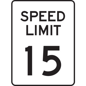 X 15 Speed Speed Limit 15 Sign, Non-Reflective, 18 x 24 | HD Supply