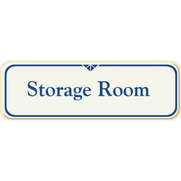 Storage Room Interior Sign Ivory 9 X 3 Hd Supply
