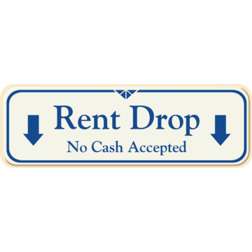 rent drop interior sign ivory 9 x 3 hd supply