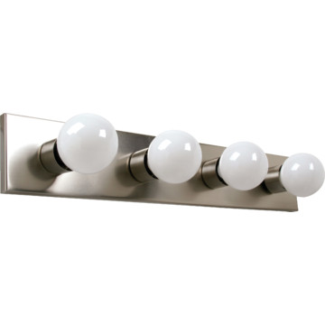 Four Light Strip Fixture Brushed Nickel HD Supply