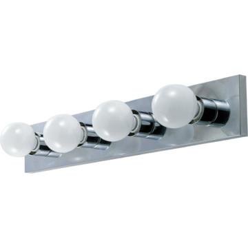 Four Light Bath Strip Fixture Chrome HD Supply