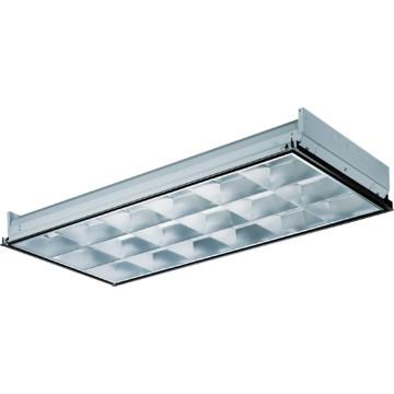 2 39 x 4 39 three light 32 watt t8 fluorescent parabolic. Black Bedroom Furniture Sets. Home Design Ideas