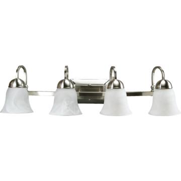 Vanity Light Fixture Led : LED Four-Light Vanity Fixture, Brushed Nickel, Alabaster Style Glass, 34 Watt HD Supply