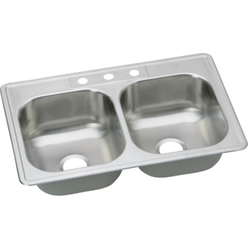 dayton 33 quot x 22 quot bowl kitchen sink stainless steel