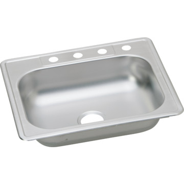 kingsford 25 quot x 22 quot single bowl kitchen sink stainless