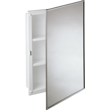 "16W x 22""H Recessed Mirrored Medicine Cabinet With Polystyrene Body"