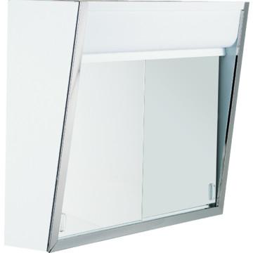 19 1 2 h top lighted sliding door mirror medicine cabinet hd supply. Black Bedroom Furniture Sets. Home Design Ideas