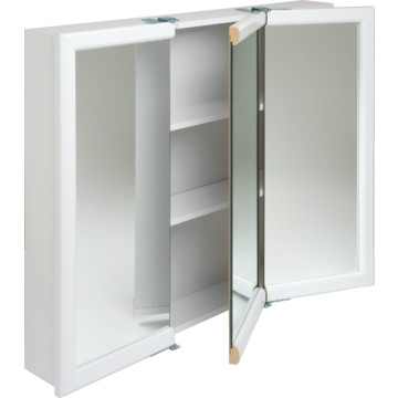 30W x 26  Surface Mount White Tri View Wood Mirrored Medicine Cabinet. 30W x 26  Surface Mount White Tri View Wood Mirrored Medicine