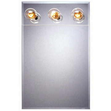 16w X 20 Quot H Recessed Beveled Edge Mirrored Medicine Cabinet