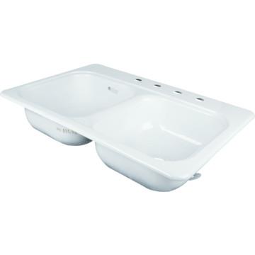22 x 33 quot bowl kitchen sink white porcelain steel