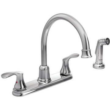 cfg cornerstone chrome two handle high arc kitchen faucet