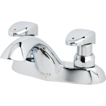 Delta Metering Faucet Chrome Two Handle Hd Supply