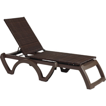 Grosfillex java adjustable chaise all weather wicker for All weather wicker chaise