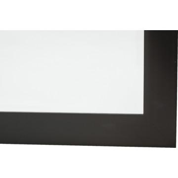 30 x 36 black framed mirror