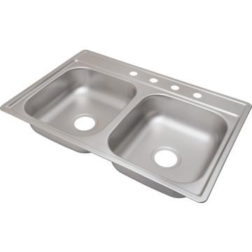 aspen 22 x 33 quot bowl kitchen sink stainless steel 4
