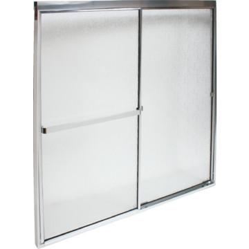 "Seasons® Seabrook 1/4"" Frameless Shower Door Silver Finish Clear ..."