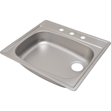 ada 25 x 21 1 4 quot single bowl stainless steel kitchen sink
