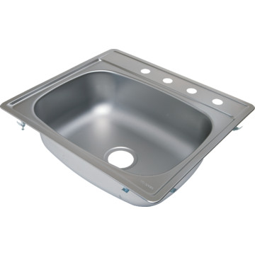 aspen 25 x 22 quot single bowl stainless steel kitchen sink 4