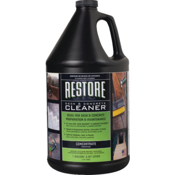 1 gallon restore deck and concrete cleaner 4 cs hd supply for Cement cleaning solution