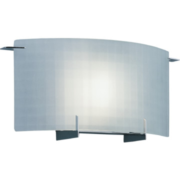 Patterned Glass Wall Lights : Wall Sconce, Chrome Accents, Geometric-Patterned Glass HD Supply