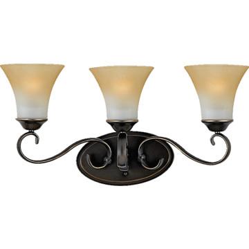 three light vanity fixture palladian bronze champagne marble glass. Black Bedroom Furniture Sets. Home Design Ideas