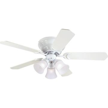 42 hugger mount ceiling fan white three light frosted. Black Bedroom Furniture Sets. Home Design Ideas