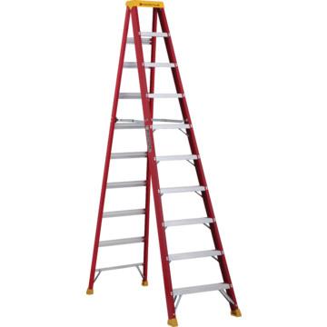 Louisville ladder 10 foot fiberglass step ladder type 1a hd supply