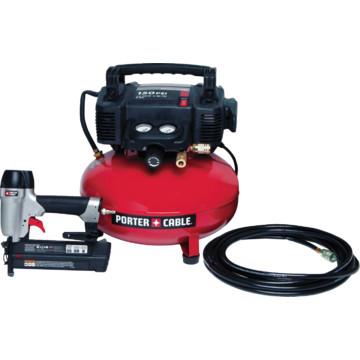 Porter Cable 6 Gallon Air Compressor Brad Nailer Combo Kit