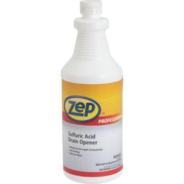 Zep Professional 174 Sulfuric Acid Drain Opener 32 Oz Case