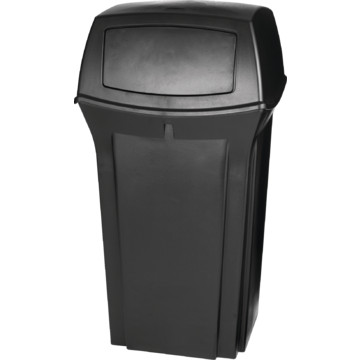 35 gallon rubbermaid ranger black trash can hd supply. Black Bedroom Furniture Sets. Home Design Ideas