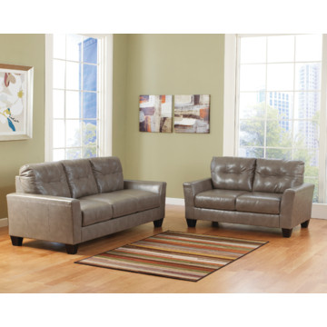 Benchcraft Paulie Living Room Set In Quarry DuraBlend HD Supply