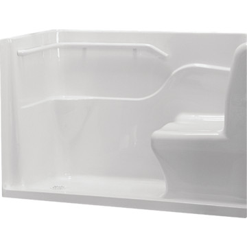 american standard acrylic seated safety shower base white rh 30 x 60 hd supply. Black Bedroom Furniture Sets. Home Design Ideas