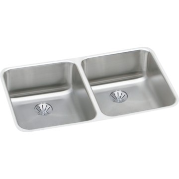 elkay gourmet perfect drain double bowl stainless