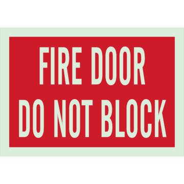 7 X 10 Brady Glow In The Dark Self Sticking Fire Door Do