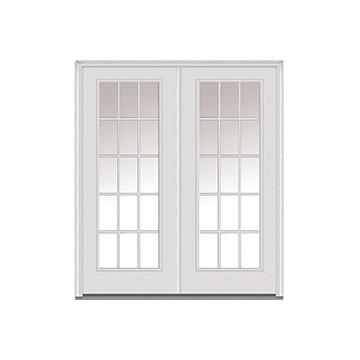 32 x 80 primed white louver door hd supply - 32x80 exterior door rough opening ...
