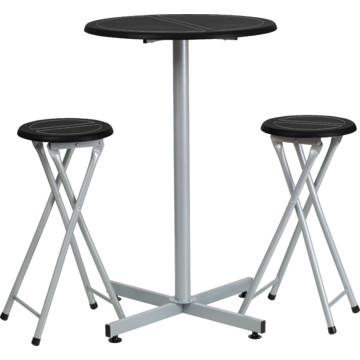 bar height table and stool set black frame for table size 24w x 37 1