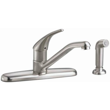 american standard colony kitchen faucet stainless steel 1 delta faucet teck 174 1 5 gpm 8 in 2 handle deck mount