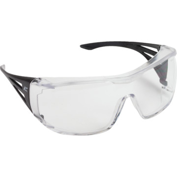 Edge Ossa Fit Over Glasses Safety Eyewear, Clear Frame ...