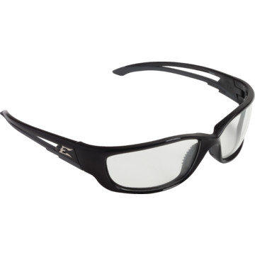 Edge Kazbek XL Safety Eyewear, Black Frame With Clear ...
