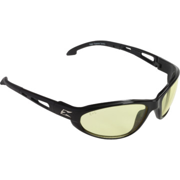 Edge Dakura Safety Eyewear, Black Frame With Yellow Lens ...