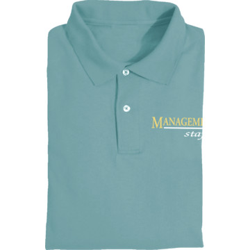 Women 39 S Light Blue Screen Printed Polo Shirt For