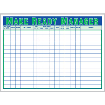 Make ready manager board hd supply for Apartment make ready board