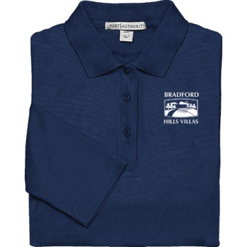 women 39 s custom embroidered long sleeve polo shirt navy