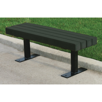 Backless Trailside Bench Black Recycled Plastic 8 Hd