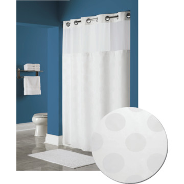 Hookless Circle Shower Curtain 71 X 77 White Case Of 12 Hd Supply