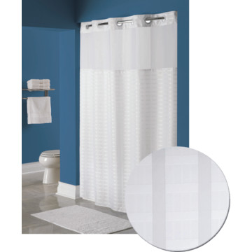 Hookless Litchfield Shower Curtain 71 X 77 White Case Of 12 Hd Supply
