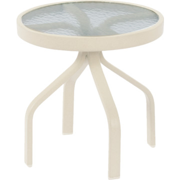 47 round acrylic top dining table off white hd supply for Off white round table