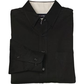 Women 39 s black custom button down long sleeve shirt x for Custom long sleeve button down shirts