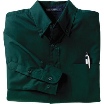 Women 39 s dark green custom button down long sleeve shirt x for Custom long sleeve button down shirts