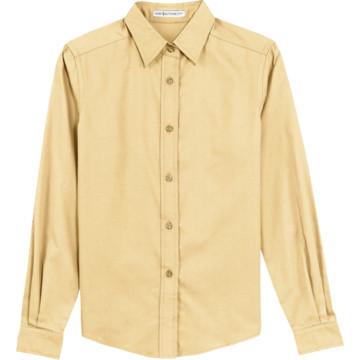 Women 39 S Yellow Custom Button Down Long Sleeve Shirt Large